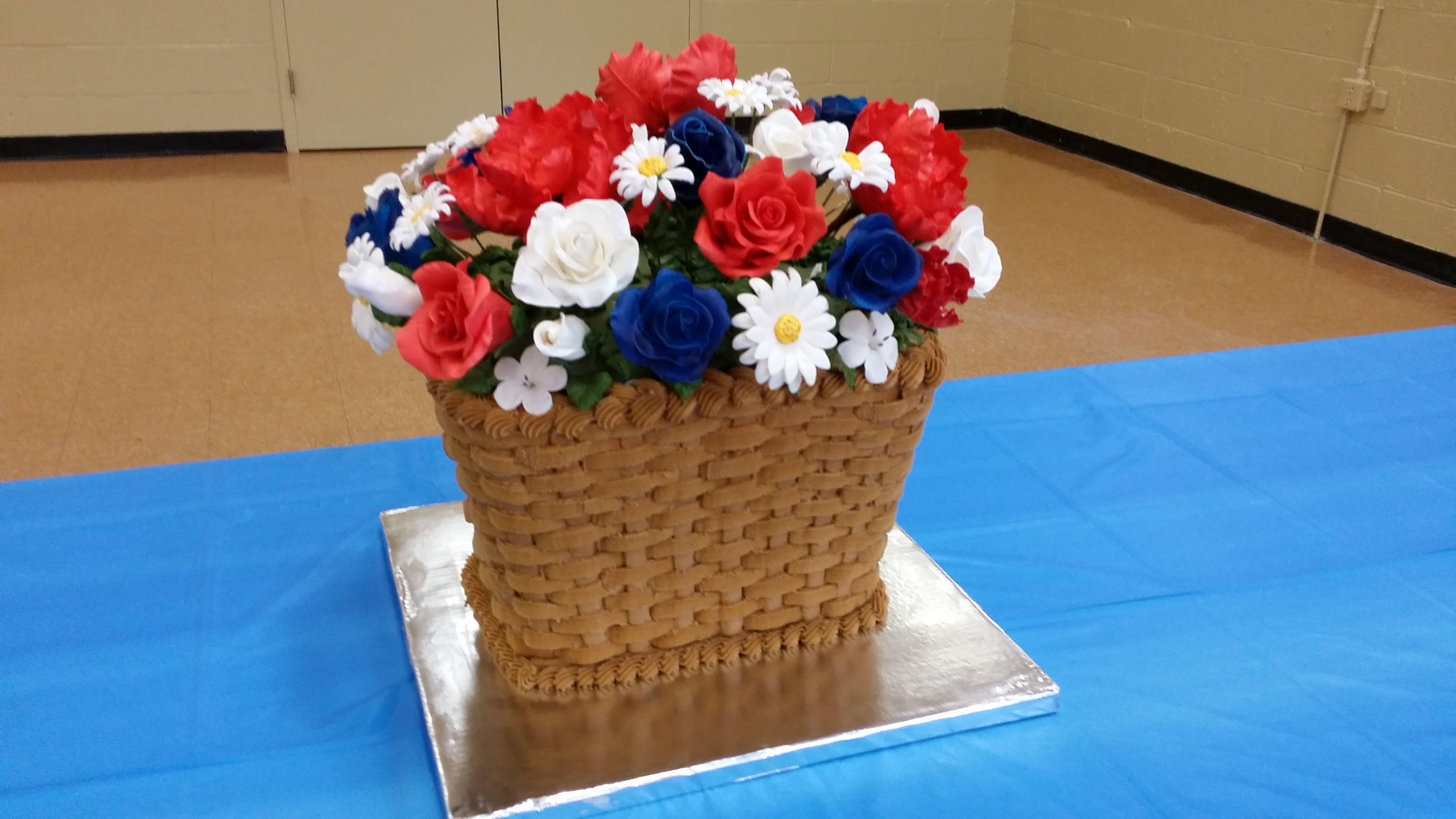 Cake made for my moms 80th birthday basket made in buttercream and cake made for my moms 80th birthday basket made in buttercream and the flowers are izmirmasajfo