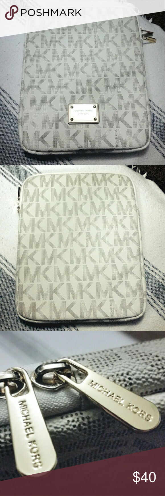 """MK signature tablet cover case NWOT - 8"""" x 10"""" - has soft material inside to prevent scratches, gold hardware. Michael Kors Accessories Tablet Cases"""