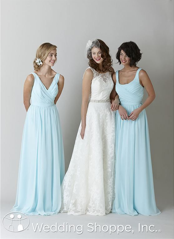 Mint bridesmaid dresses Anna and Sophia with Kennedy Blue bridal ...