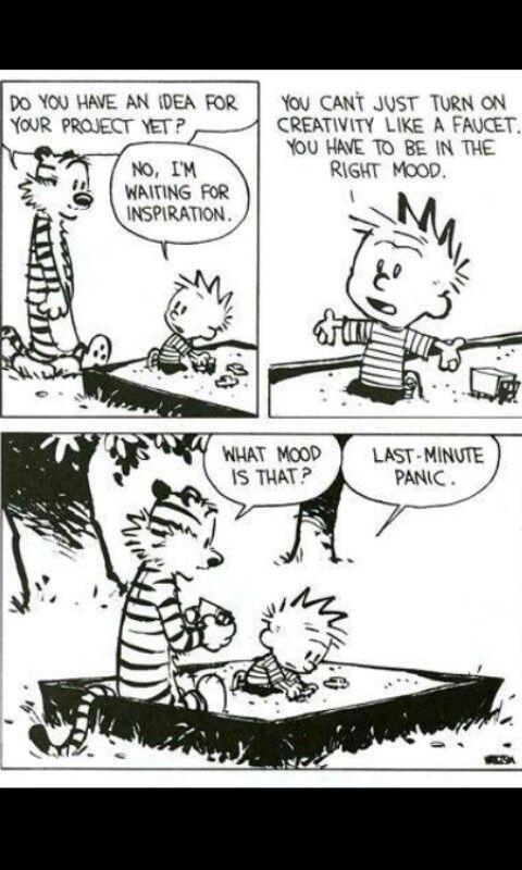 Last Minute Panic Funnies Funny Calvin Hobbes Meme Comics