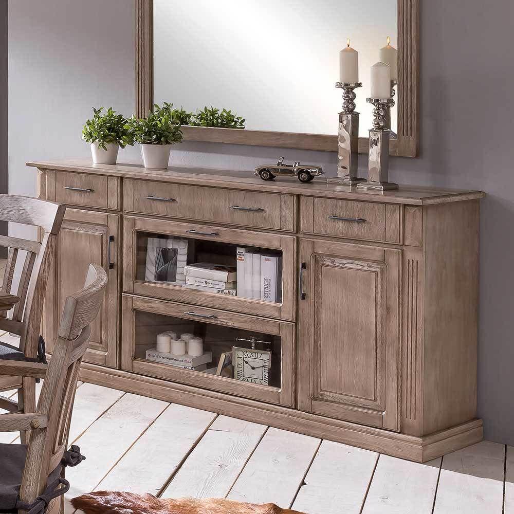 Wonderful Anrichte Aus Eiche Landhausstil Rustikal   Wohnzimmer U003e Schränke U003e Kommoden    Holz   Massivholz  