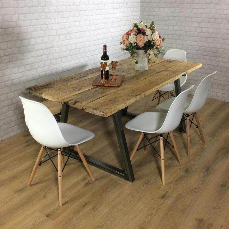 John Lewis Calia Style Dining Table Vintage Industrial Reclaimed