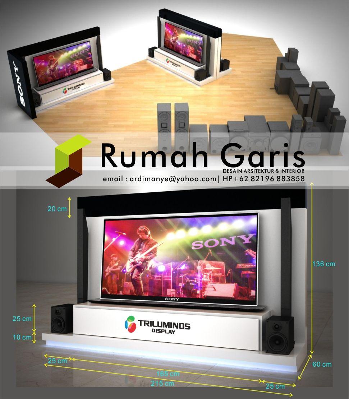 Detail Desain Booth Display Etalase Tv Sony Jasagambar 3drender  # Muebles Dico Power Center