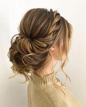 Prom Updos Formale Frisuren für langes Haar – #formal #Hair #haarstyles #Long #Pr …