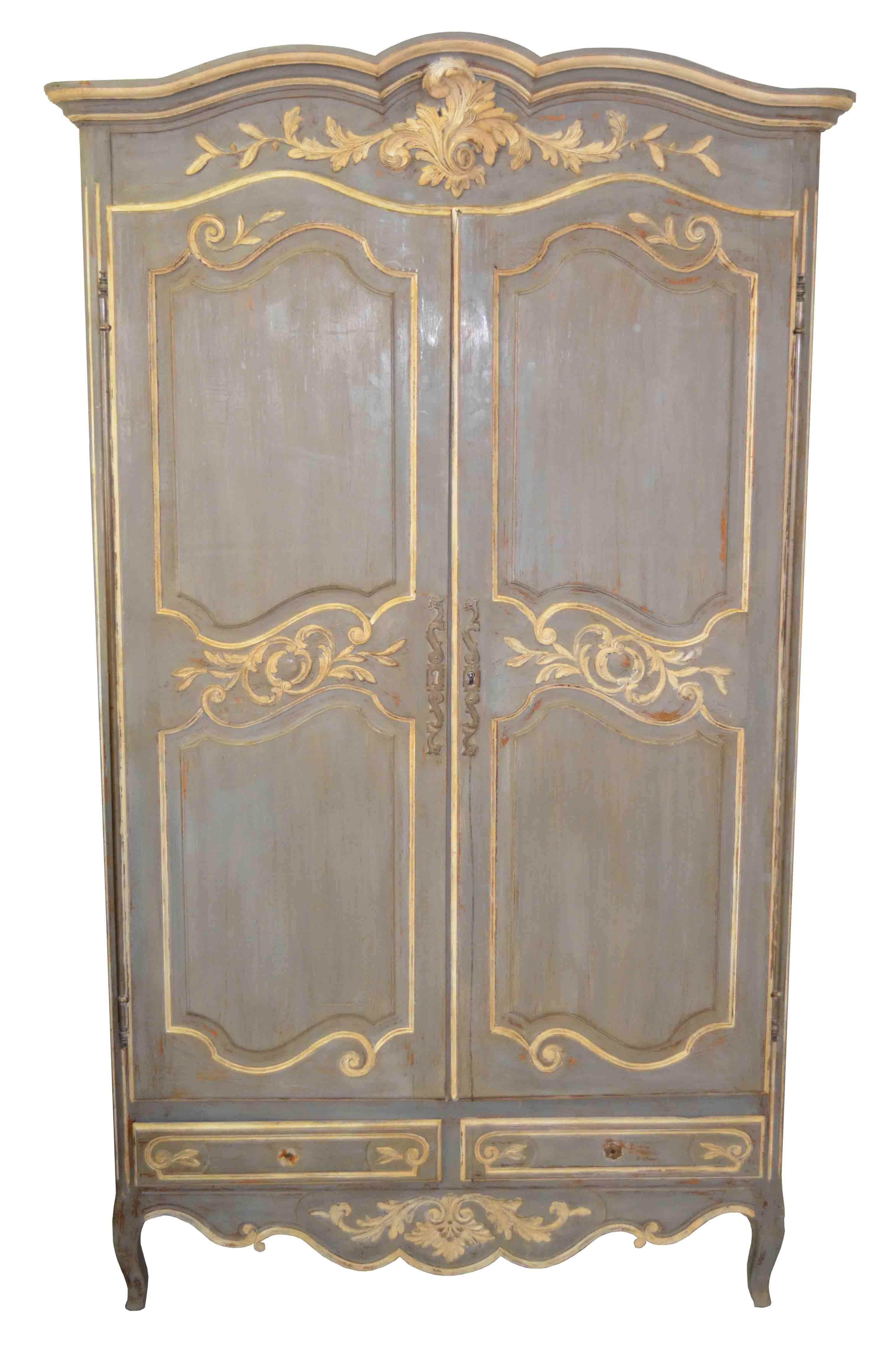 Louis xv armoire patines mobilier de salon meubles peints et decoration meuble - Maison de l armoire lit ...