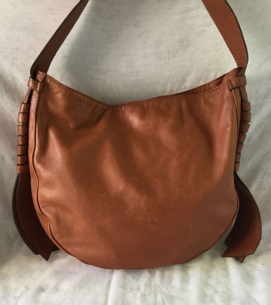 5167fec5749a Auth M Clifford Garbo Hobo Bag Dark Tan Grain Leather Excellent Condition!  in Clothing