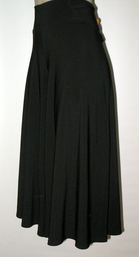 CAbi Jersey Knit Cropped Wide Leg Pants - Pull on styling - S - Style 319 BLACK #CAbi #CroppedPant