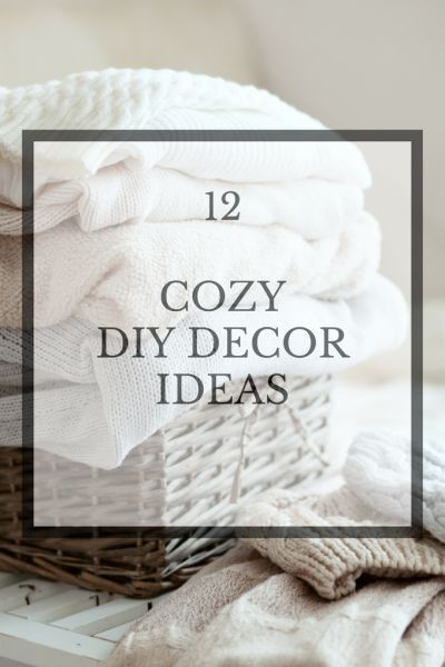 Cozy DIY Ideas for Your Home is part of Home Accessories Decor DIY Projects - With temperatures falling is the perfect time for Cozy DIY Ideas for your home from the DIY Housewives  Great tips, tricks and DIYs for your home