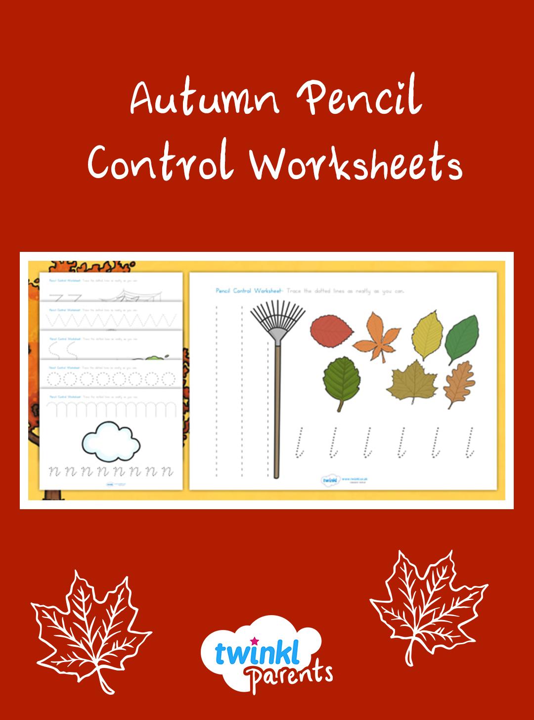 Autumn Pencil Control Worksheets