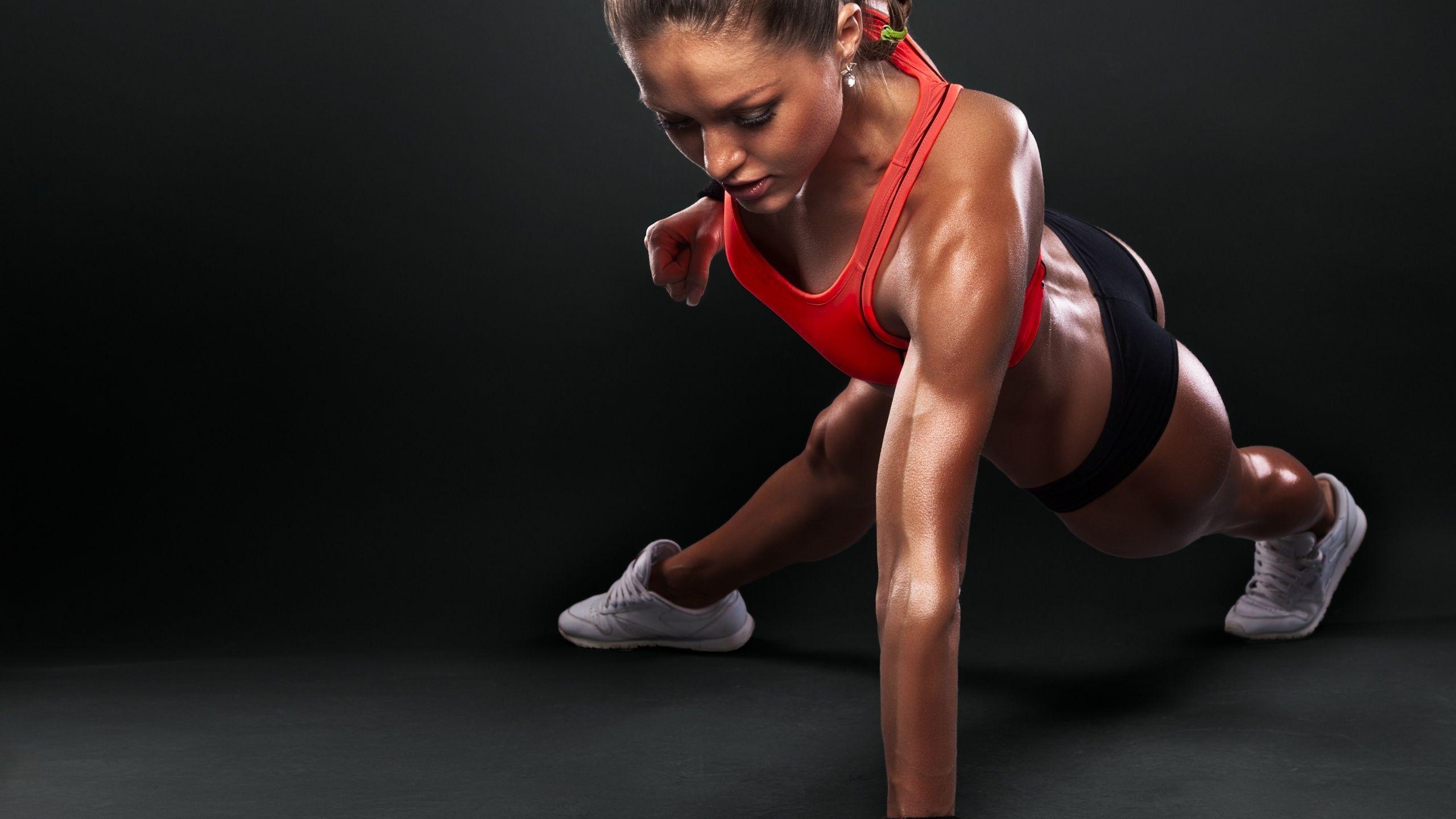Fitness training girl wallpaper.