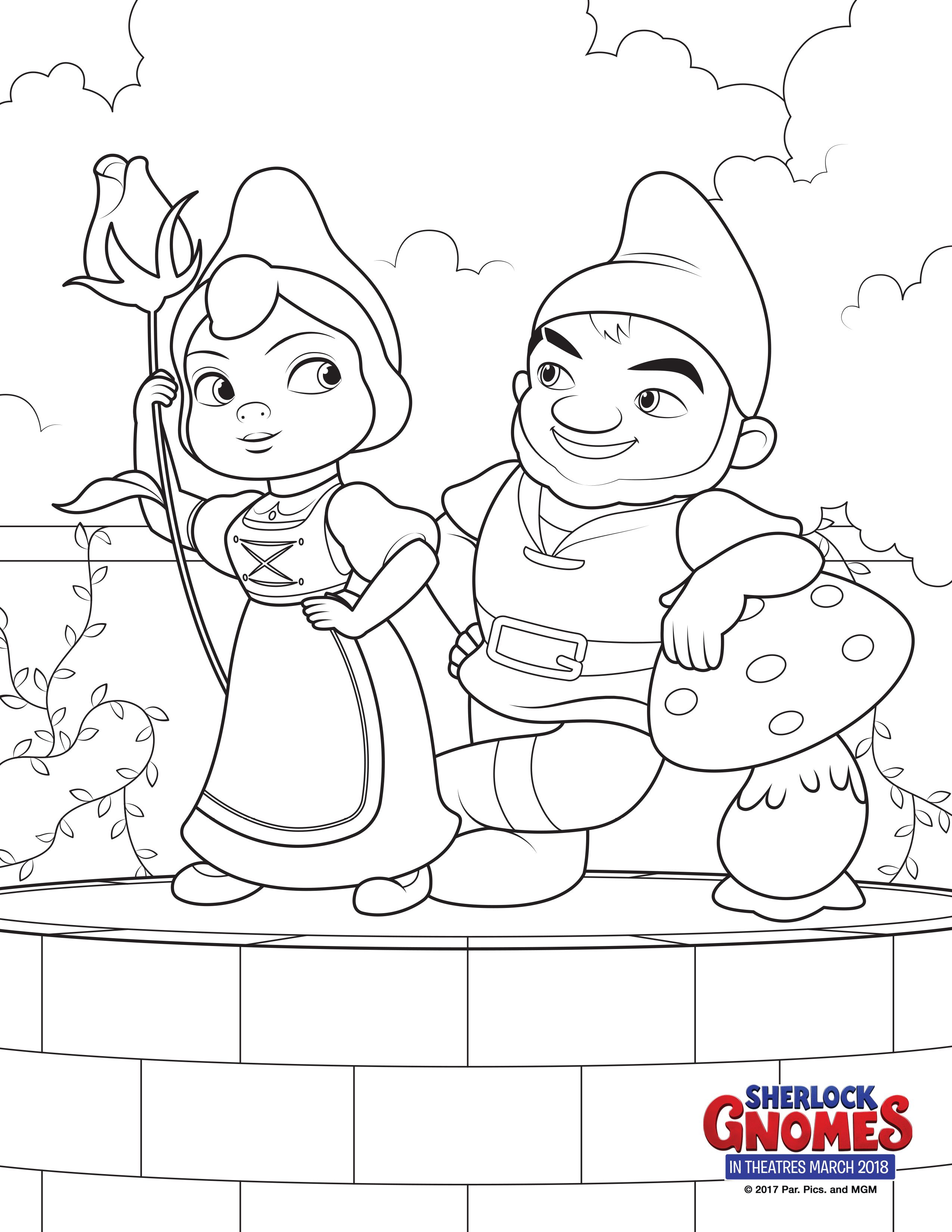 Sherlock Gnomes Coloring Pages Books