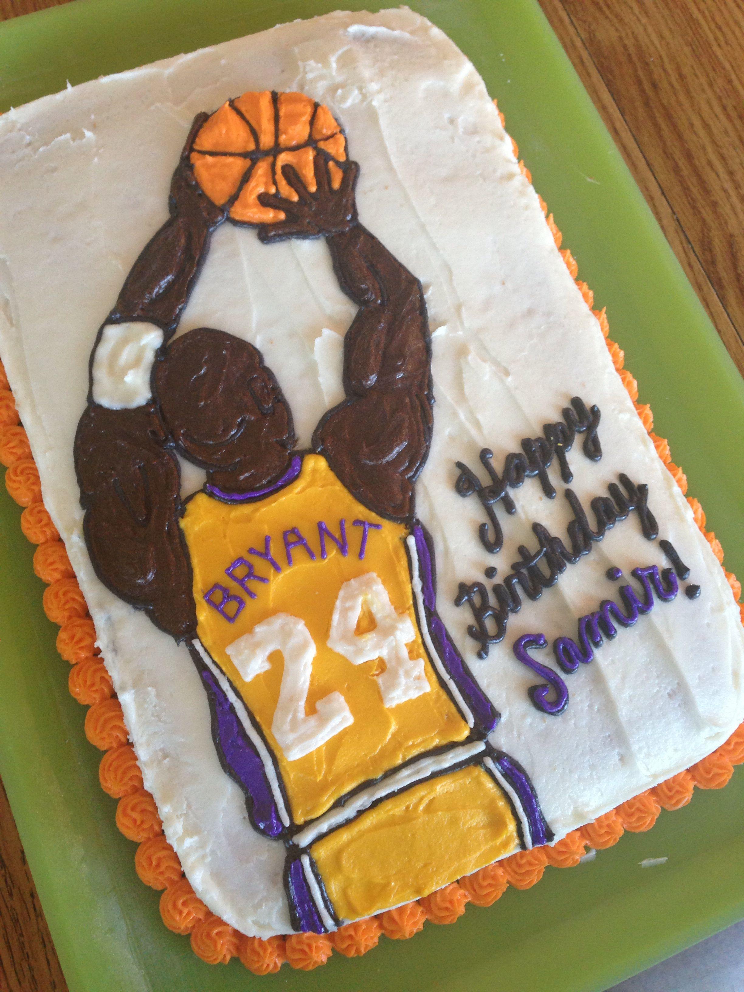 Kobe Bryant cake Cake, Cake designs, Baking