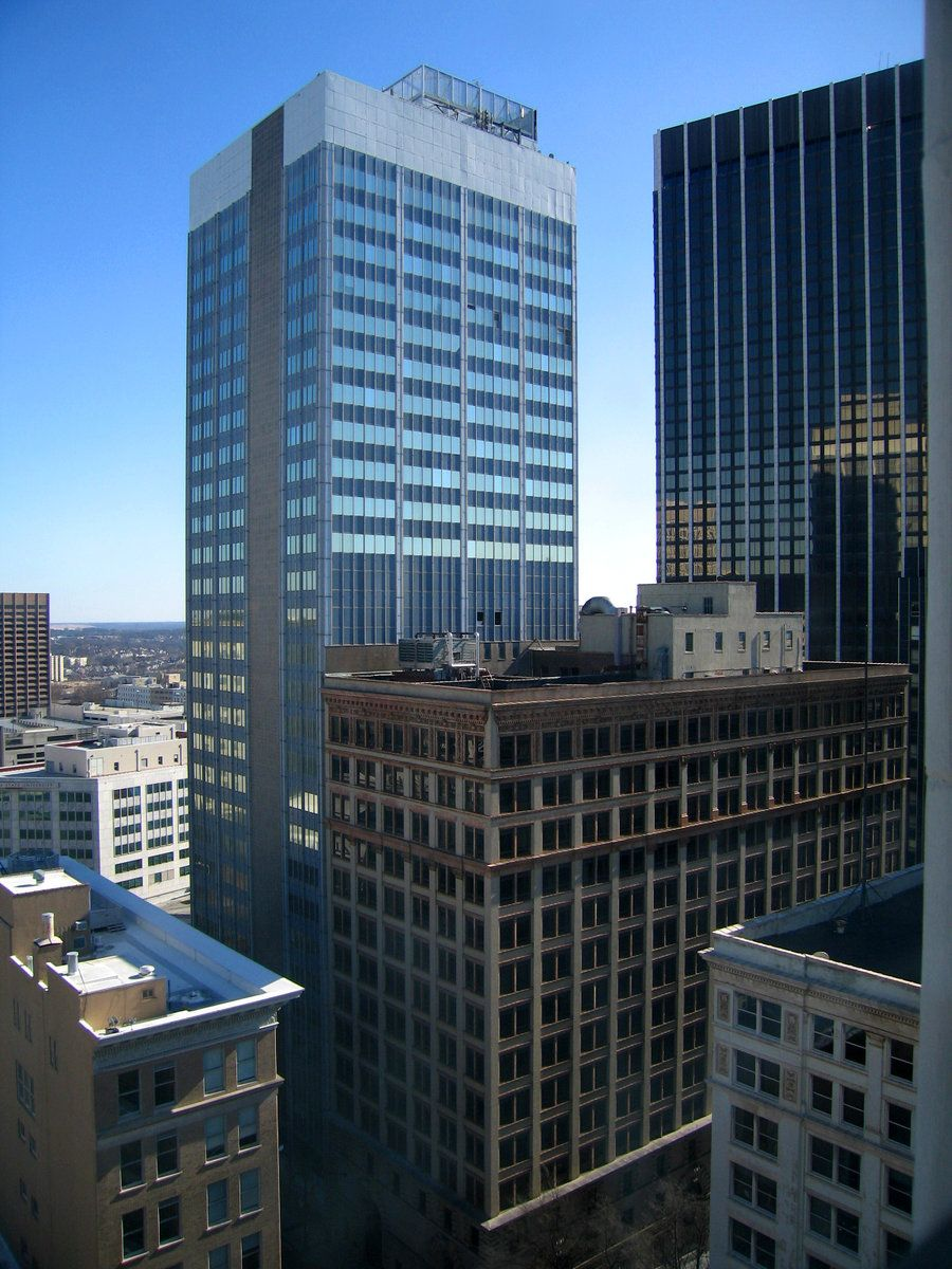 Buildings At Five Points In Atlanta Georgia As Seen From The 16th Floor Elevator Lobby Of The Healey Build Beautiful Buildings Building Best Places To Travel
