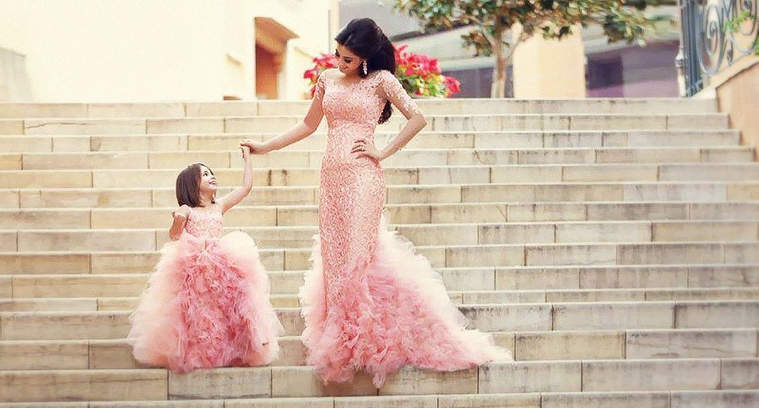 Kids' Fashion: Mother - Daughter matching outfits. Like mother like daughter. See more here https://www.facebook.com/wedding.tradition