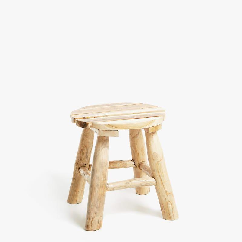 Sgabelli Zara Home.Immagine 1 Del Prodotto Sgabello Tek Naturale Zara Home