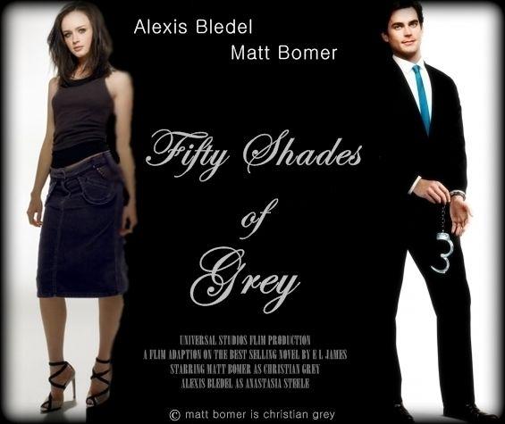 Matt Bomer As Christian Grey And Alexis Bledel As Anastasia Steele