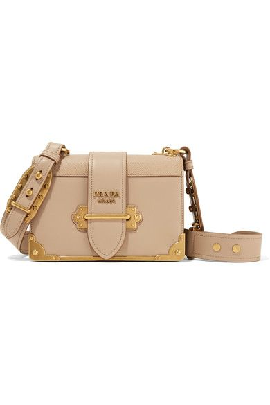 27632e016e1800 Prada Beige smooth and textured-leather (Calf) Tab-fastening front flap  Comes with dust bag Weighs approximately 2.6lbs/ 1.2kg Designer color:  Cameo Made in ...