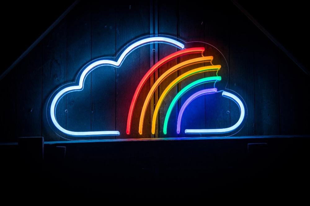 Cloud Rainbow LED Sign | Led neon signs, Led signs, Neon signs