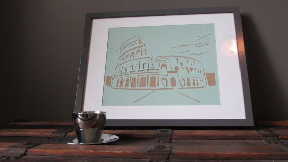 Rome's Coliseum by HandcutPaperMemories on Etsy