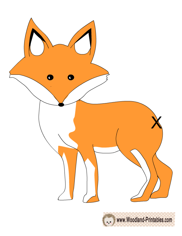 photograph relating to Fox Printable identified as Pin the Tail upon the Fox Sport Printable Cost-free Printable Little one