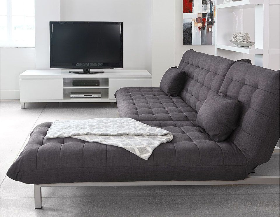 structube sofa and chaise combo both can be lowered for sleeping