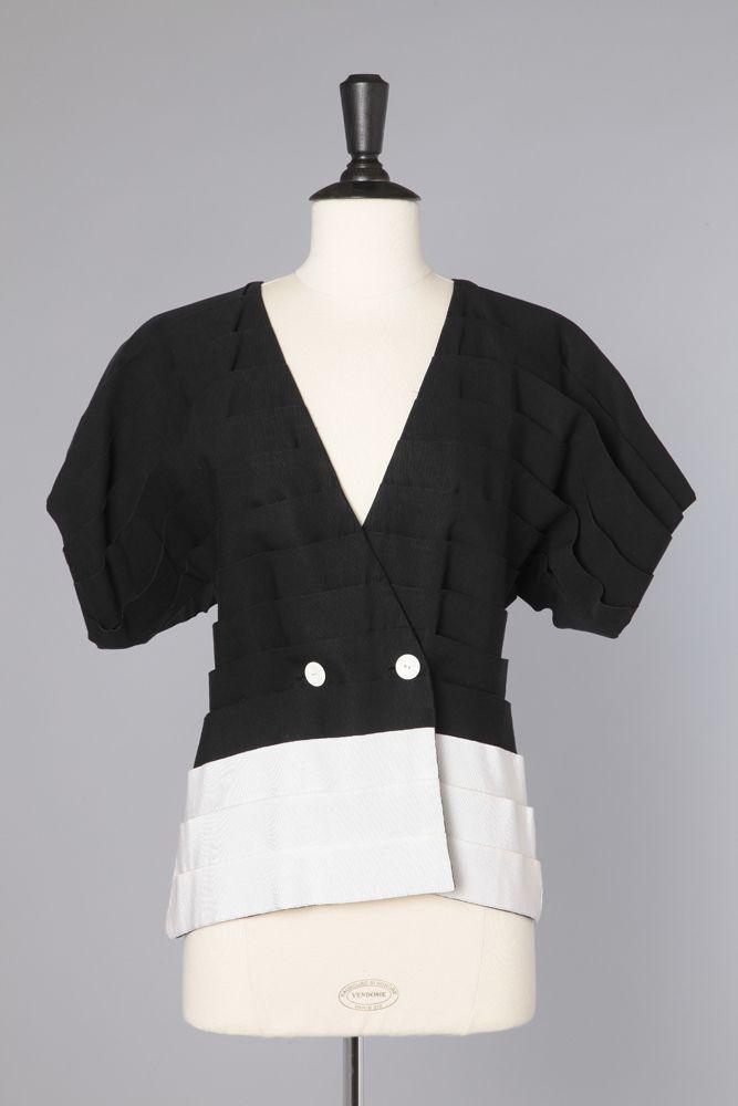 Veste noir et blanc