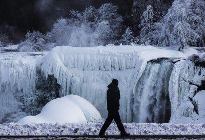 Photos Of Partially Frozen Niagara Falls - Business Insider