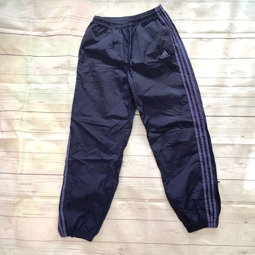 Vtg 90s Adidas Trefoil Nylon Windbreaker Track Pants