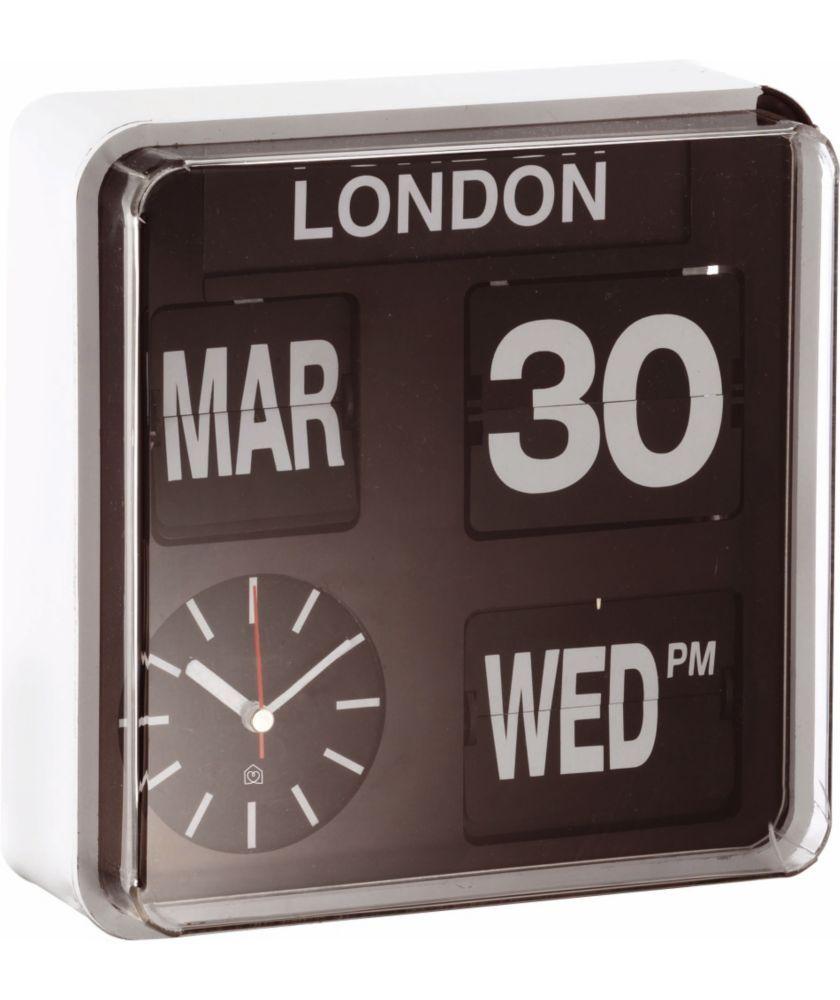Black Kitchen Clock Argos: Buy Habitat Flap Small Analogue City Wall Clock At Argos