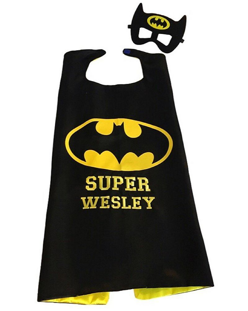 batman cape and mask custom superhero capes kids superhero cape