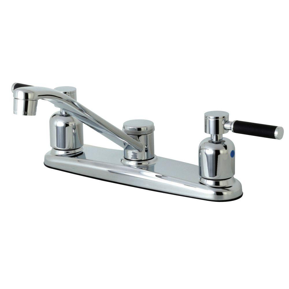 Kingston Brass FB111DKL Kaiser 8-Inch Centerset Kitchen Faucet ...