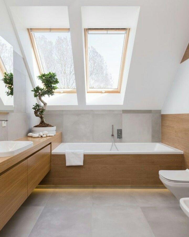 Pin Von Leniwc Mosa Auf Bathroom Mit Bildern Badezimmer Dachgeschoss