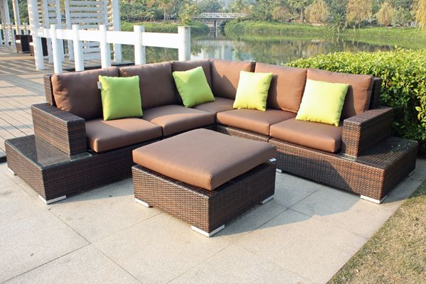 Linz 6 Piece Outdoor Modular Lounge Setting   Outdoor Lounges   Wicker  Furniture
