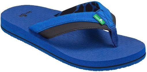 Sanuk Root Beer Cozy Light Flip-Flops Blue/Black Kids 11 - 12