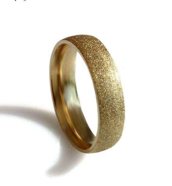 Sand Texture 14k Gold Wedding Band Comfort Fit Men Ring Sand Blasted Finish Wide Gold Men Wed Mens Gold Wedding Band Gold Wedding Band 14k Gold Wedding Band