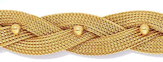 goldkollier strumpf goldkette geflochten 18k 750 luxus. Black Bedroom Furniture Sets. Home Design Ideas