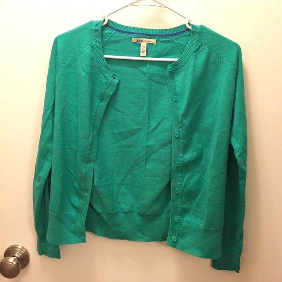 Bass Turquoise cardigan Bass turquoise cardigan. 100% cotton. Never been worn Bass Sweaters Cardigans