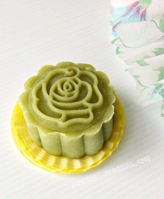 Mid-autumn festival, green tea moon cake