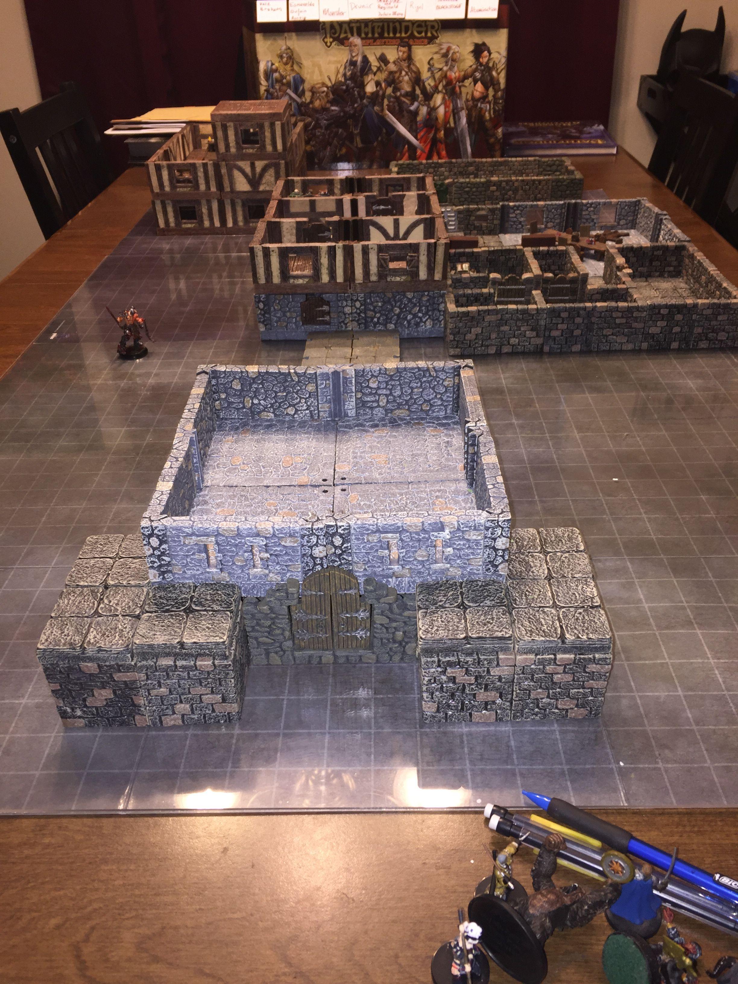 Pathfinder D&D Dwarven Forge Schloss Caromarc | Dungeons ...