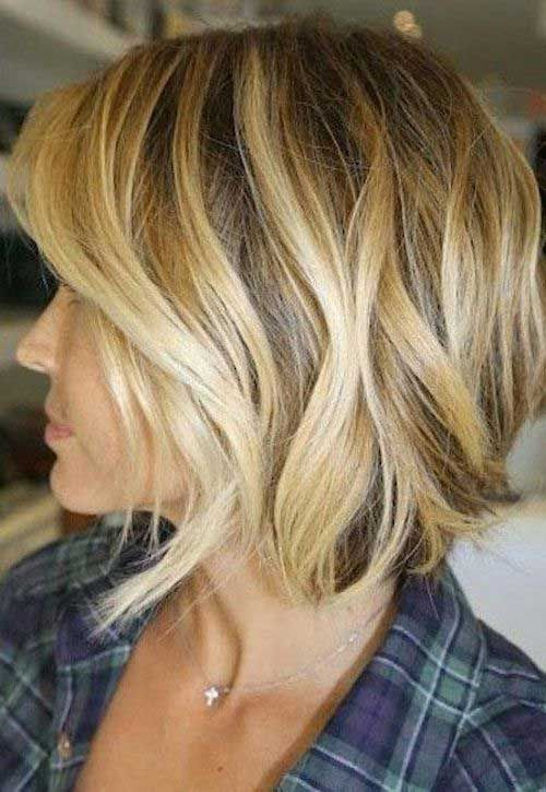 Side View Of Nice Wavy Short Haircut Hairstyles