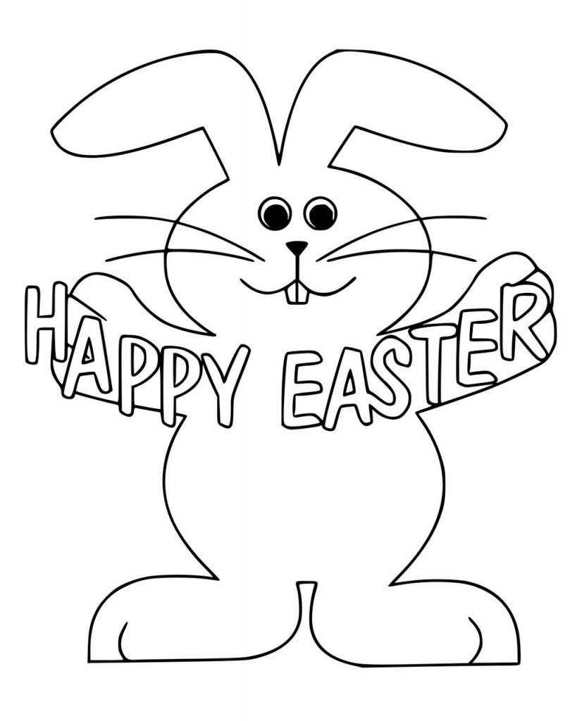 Easter Bunny Coloring Pages Easter Bunny Pictures Easter