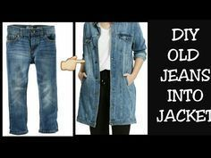 DIY Old Jeans Into Jacket/ Shrug Recycle/Reuse Old Jeans - #DIY #Jacket #Jeans #RecycleReuse #Shrug
