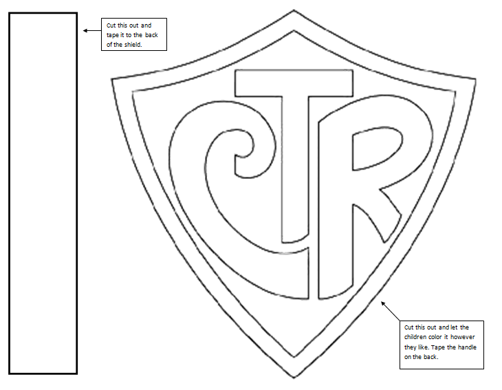 Ctr Shield Coloring Pages