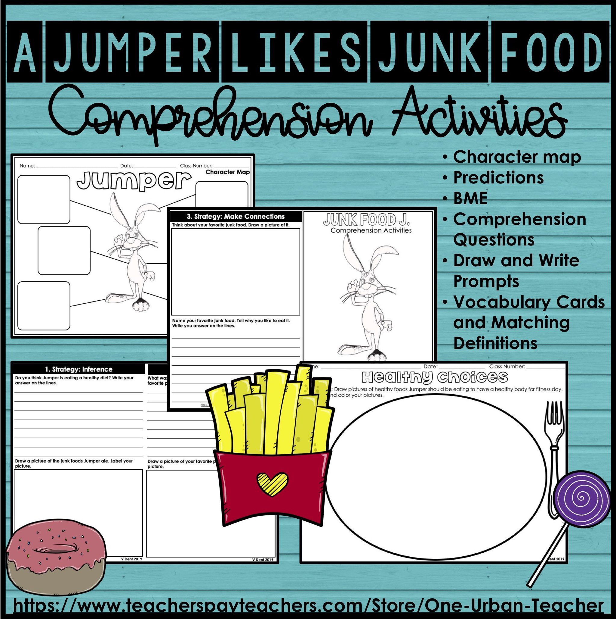 A Jumper Likes Junk Food Comprehension Activities