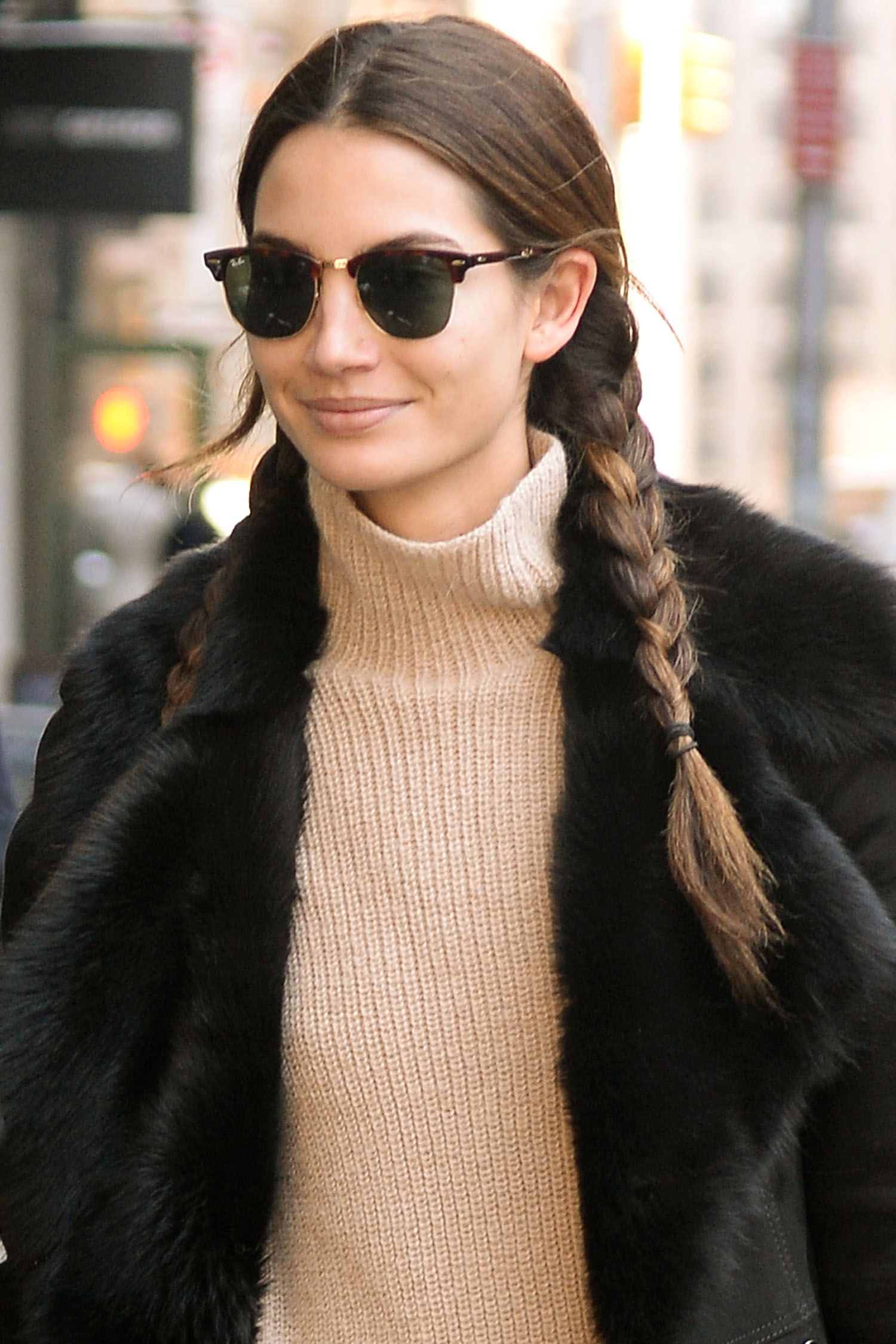 Beauty Street Style: Side Braids andSunglasses