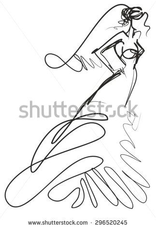 Vector Stylish Original Hand Drawn Graphics With Beautiful Young