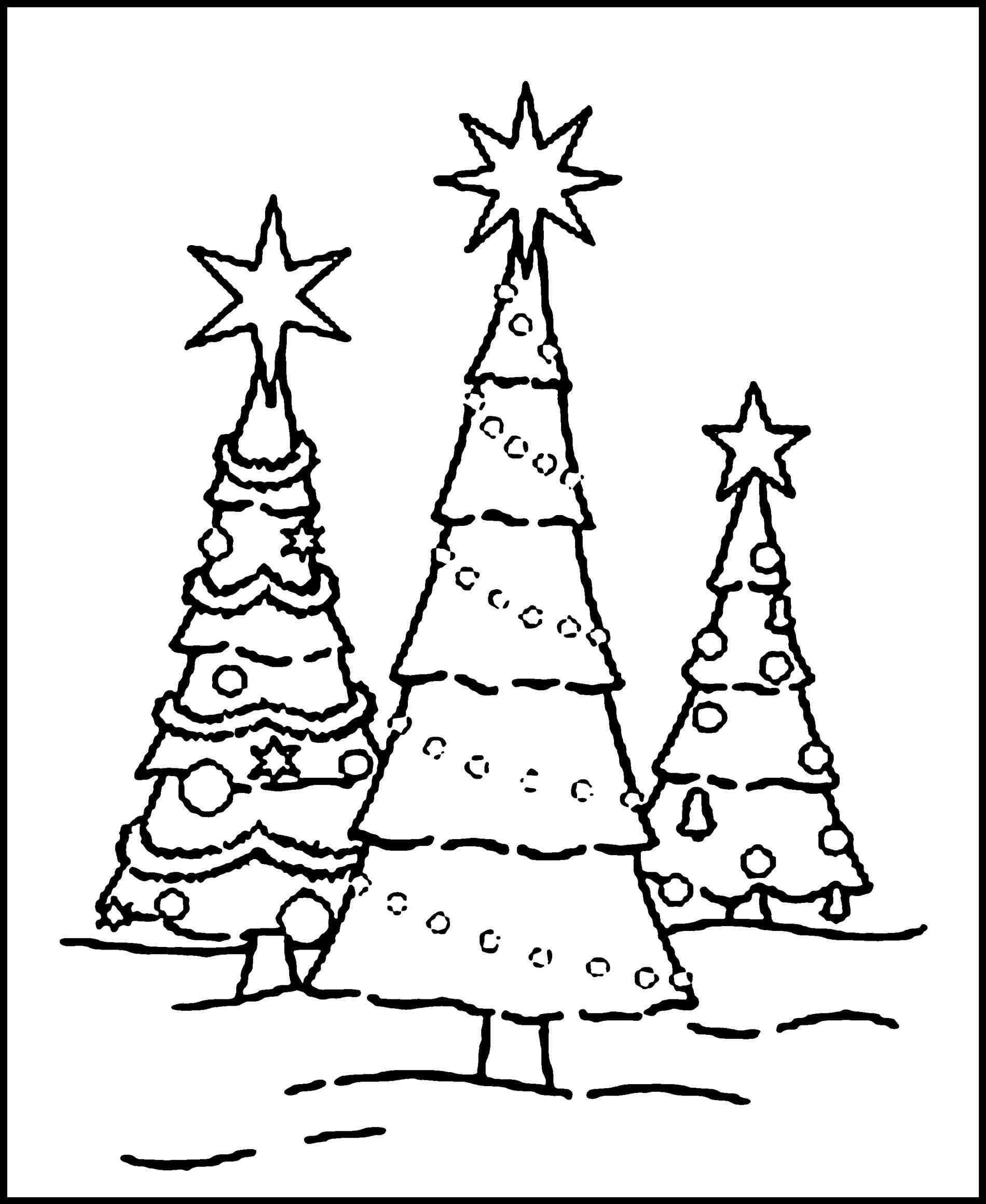 Christmas Tree Pictures To Color Eliolera Com