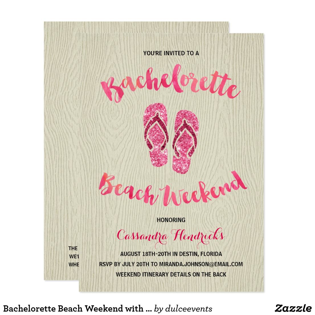 Bachelorette Beach Weekend. Bachelorette Party Invite- Stagette ...