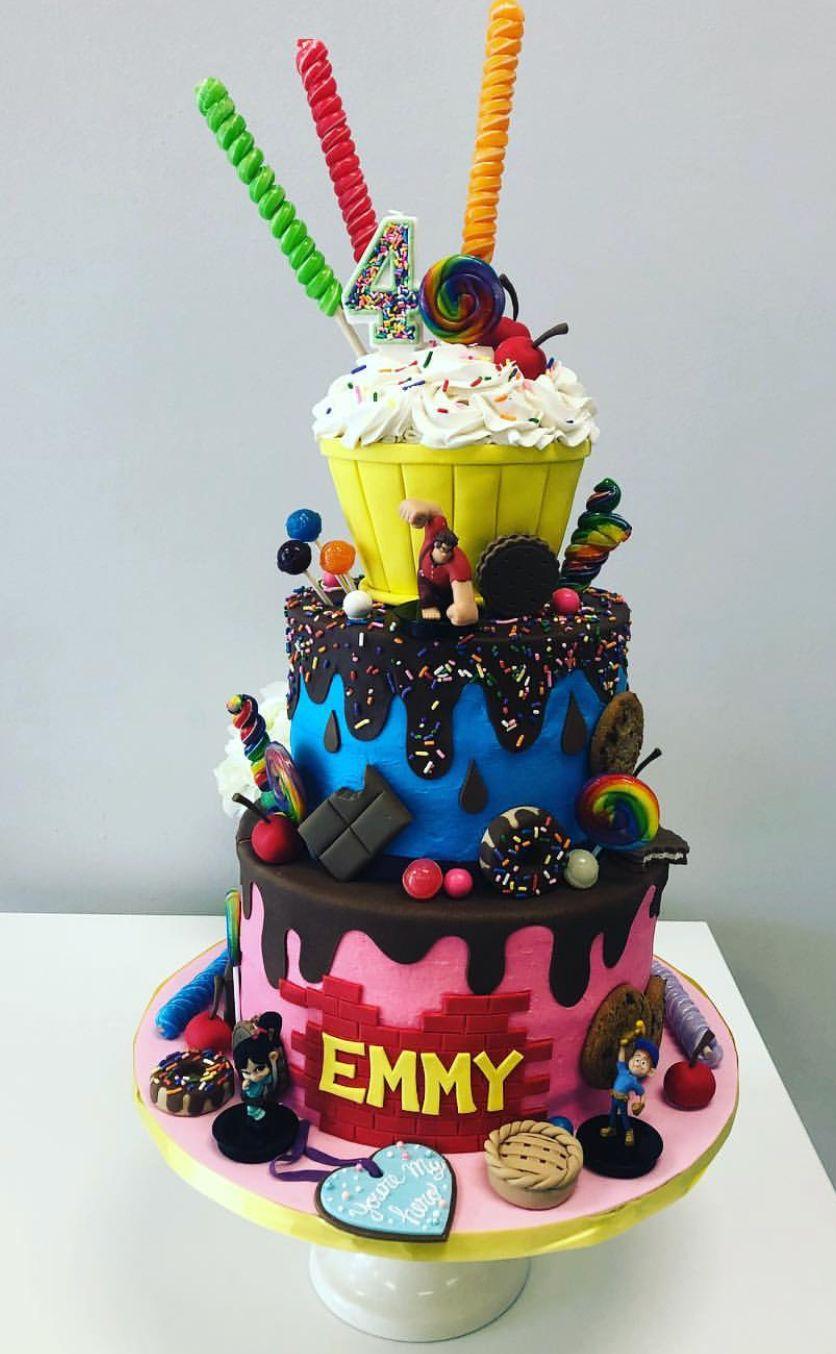 Wreck It Ralph Birthday Party Ralph Breaks The Internet Birthday Party Happy Birthday Cakes Birthday Party Cake Party Cakes