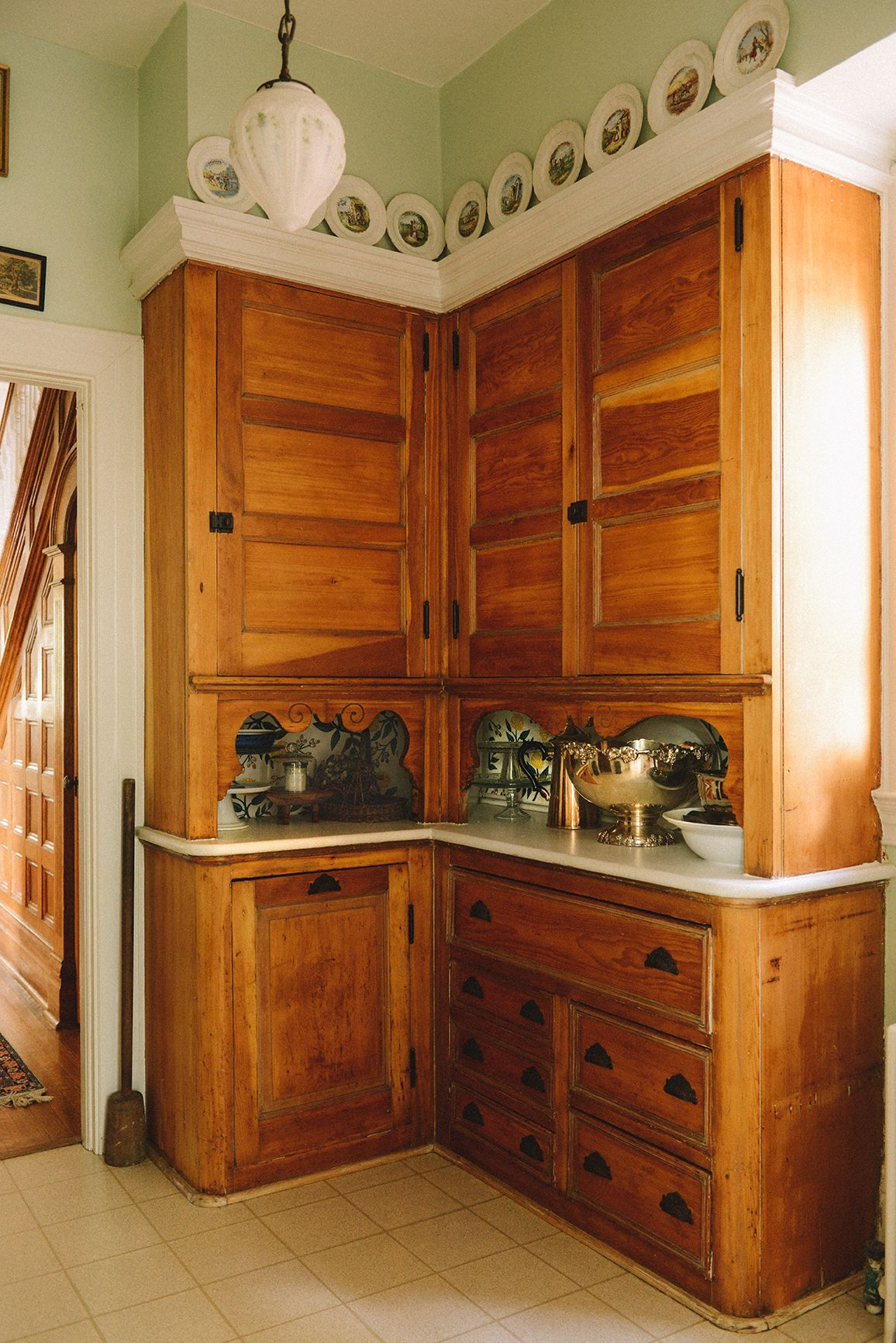 A Pittsburgh Home For Collecting Entertaining On Design Sponge Kitchen Cabinets Victorian Kitchen Modern Kitchen Pictures
